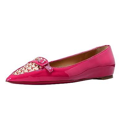 37c74fd11 Salvatore Ferragamo Women's Paige Leather Ballet Flats Shoes US 9.5 M IT  39.5 M; Purplish