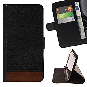 For LG G3 Black Texture Brown Dark Beautiful Print Wallet Leather Case Cover With Credit Card Slots And Stand Function