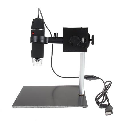 Starnearby Microscopio Reparación Lupa 500x USB Digital Soporte Soldador Soporte Lámpara