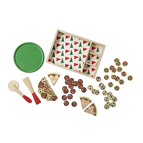 Melissa & Doug Pizza Party Wooden Play Food Set With 54 Toppings by Melissa & Doug (Image #5)