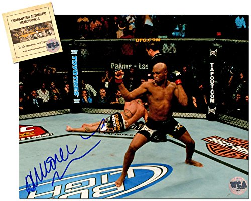 Anderson Silva Autographed/Signed 8x10 UFC MMA Photo Memorabilia Certified with WCA Dual Authentication Holograms and ()