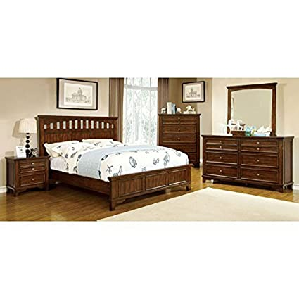 Amazon Com Chelsea Transitional Style Cherry Finish Queen Size 6