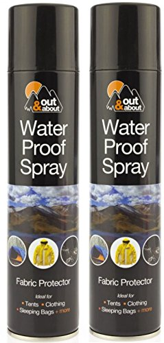 2 x Waterproof Spray Ideal For Tent Sleeping Bags, Rucksacks, Shoes, Boots...