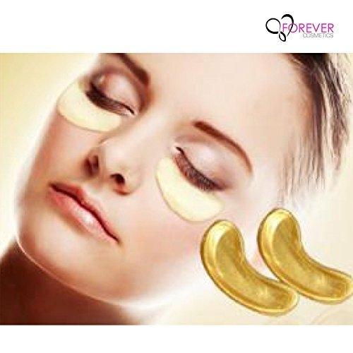 Infinitive Beauty® Kollagen Augenpads - Die feuchtigkeitsspendende Anti Falten Augenmaske gegen Augenringe & Fältchen mit praktischen BLISSANY Organza Bag (10)