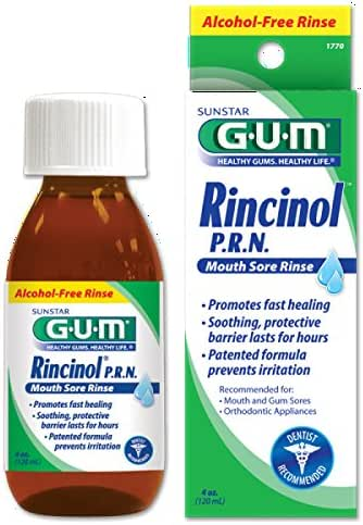 Gum Sunstar 1770R Rincinol P.R.N. Mouth Sore Rinse, 4 oz.