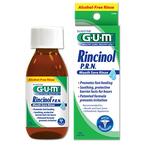 Sunstar 1770R GUM Rincinol P.R.N. Mouth Sore Rinse, 4 oz.