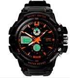 Men's Waterproof Outdoor Sports Watch & Led Summer Swimming Diving Male Watch Fashion Sports Watch Orange Color