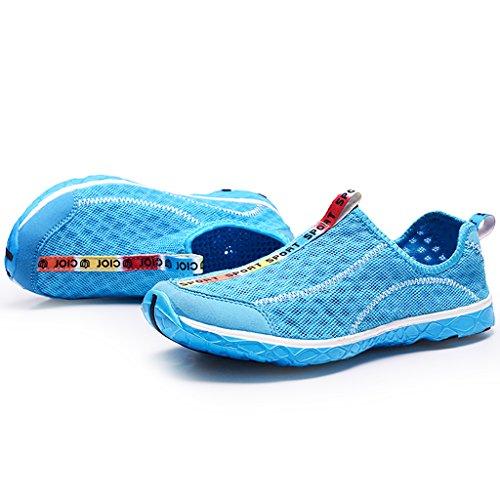 Clax Womens Quick Drying Aqua Water Shoes Blu