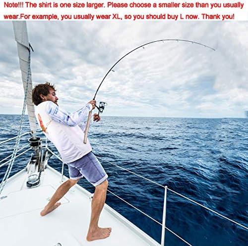 Palmyth Fishing Shirt for Men Long Sleeve Sun Protection UV UPF 50+ T-Shirts with Pocket