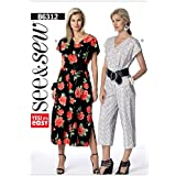 ba9d8066eb14 Butterick See   Sew Ladies Easy Sewing Pattern 6312 V Neck Dress   Jumpsuit