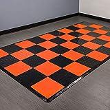 vented garage floor tiles - Incstores Diamond Nitro Tile - Motorcycle Mats (Black/Harley Orange)