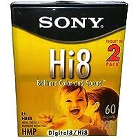 Sony Hi8 P6-120HMPL/2B Brilliant Color and Sound Metal Particle Digital 8 / Hi 8 - 2 Pack
