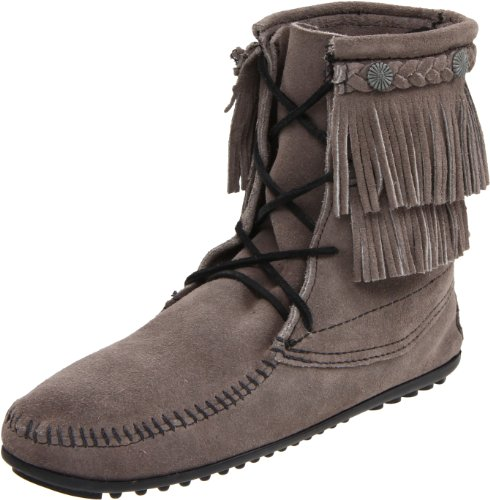 (Minnetonka Women's Ankle Hi Tramper Boot,Grey,11 M US)