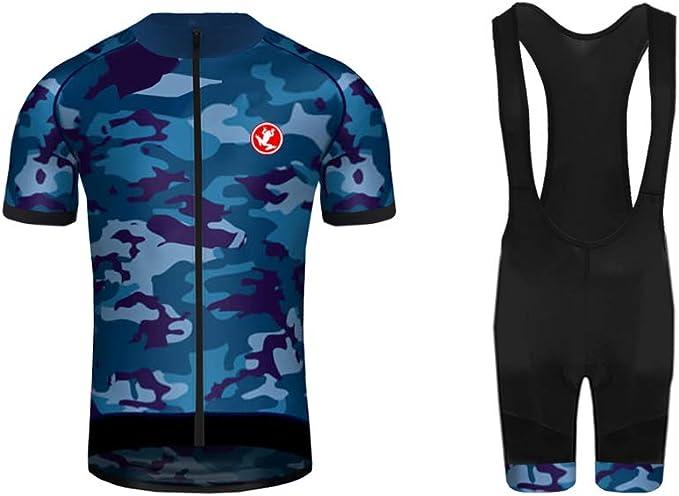 Uglyfrog Diseños de Bandera Nacional de España Ciclismo Maillot Hombres Jersey + Pantalones Cortos Culote Mangas Cortas de Conjunto de Ropa Transpirable para Deportes al Aire Libre Ciclo Bicicleta FAX19DT03: Amazon.es: Deportes