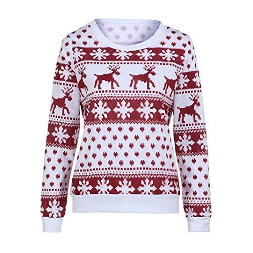 Delle Lunghe Invernale Maniche Casual Camicette Corte Donne shirt nbsp; T Rosso Refulgence A Abito PxwR00q