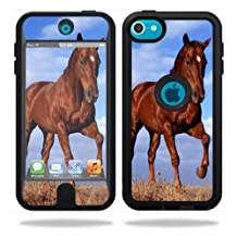 Mightyskins Protective Vinyl Skin Decal Cover for OtterBox Defender Apple iPod Touch 5G 5th Generation Case Horse