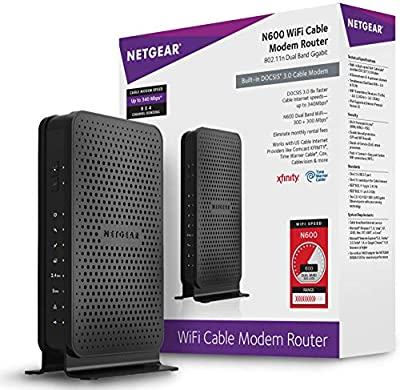 NetGear N600 (8x4) WiFi DOCSIS 3.0 Cable Modem Router (C3700)
