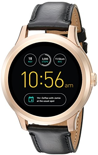Fossil Q Founder Gen 1 Touchscreen Black Leather Smartwatch by Fossil