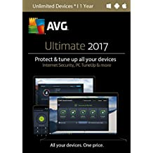 AVG Ultimate 2017, Unlimited Devices, 1 Year (Keycard in Retail Box)