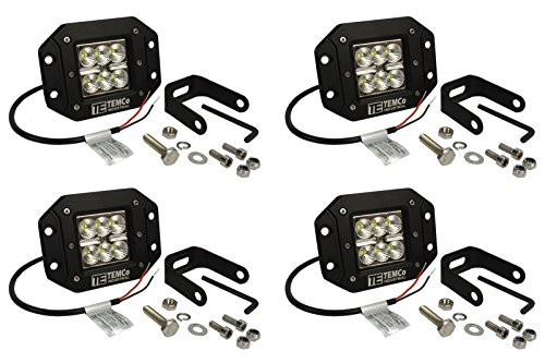 Temco 4 x 5 24 W Watt LED Flush Mount FLOOD Light CREE Off Road Driving - Light Flush 4 Rail