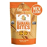 Organic Peanut Butter Chewy Banana Bites - 3.5 Ounce - Delicious Barnana Coated Potassium Rich Banana Snacks - Lunch Dinner Sports Hiking Natural Snack - Whole 30, Paleo, Vegan