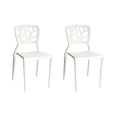 Miliboo - Gruppo di 2 sedie design bianche KATIA: Amazon.it: Casa e ...