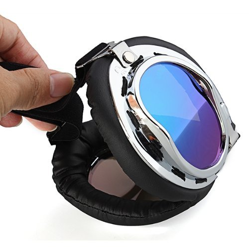 Gafas Lente Lens Tipo Aviador contra Viento UV para Moto Harley