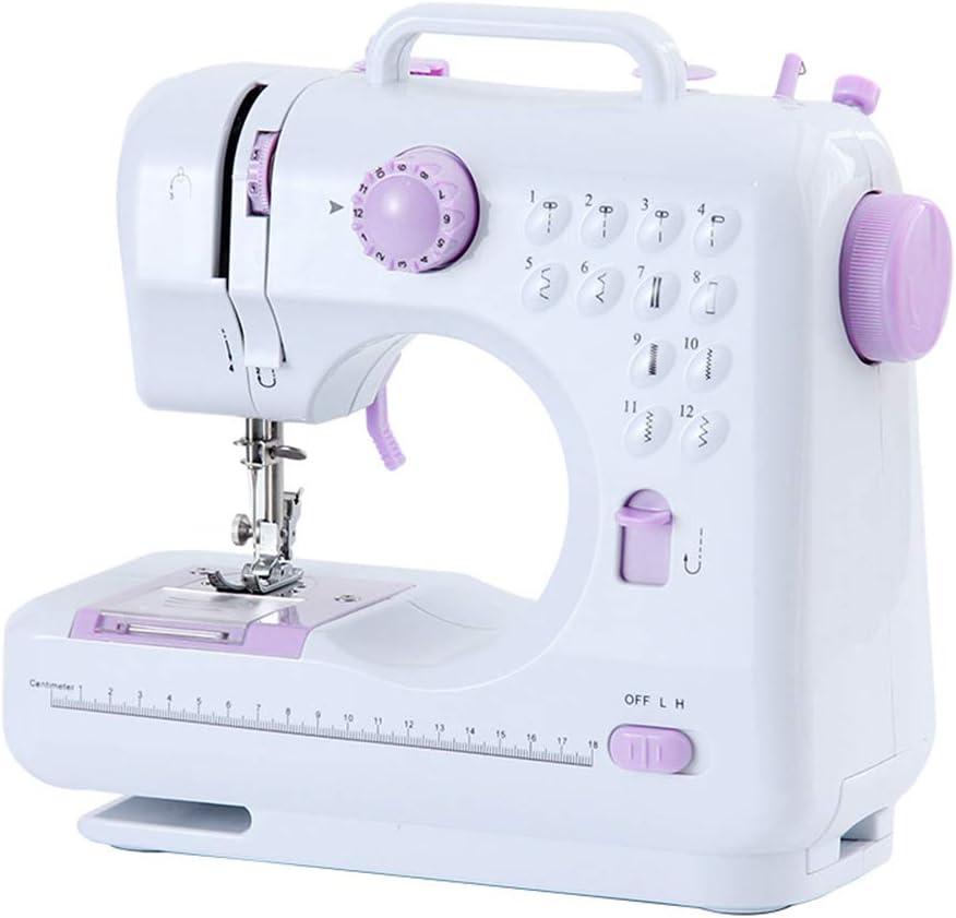Máquina de coser con mesa de extensión eléctrica 12 puntadas decorativas Máquina de coser de fabricación de brazo libre Coser todo tipo de telas