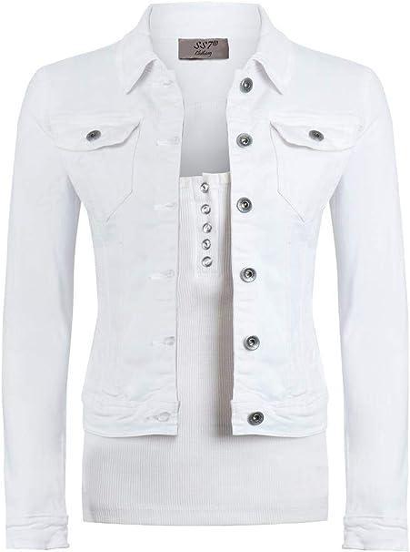nessuna tassa di vendita professionista di vendita caldo cerca l'originale SS7 Womens Fitted Denim Jacket Khaki Size 8 10 12 14 16: Amazon.co ...