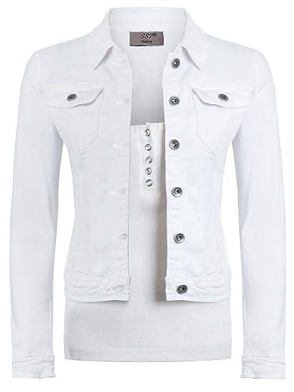 the best attitude 58110 f2d97 SS7 Damen ausgestattet Jeansjacke Damen Stretch Khaki Jean-Jacken-Größe  34-44