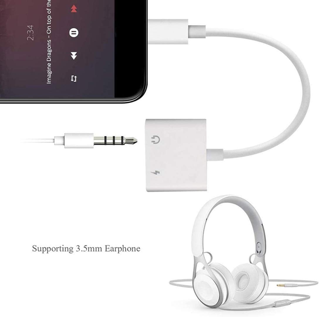 Headphone Adapter for iPhone 11 pro 3.5mm Jack Car Charger AUX Converter Splitter Charge /& Audio Cables 2 in 1 for iPhone 7//7 Plus//8//X//10//11//XR//XS//XS Max Dongle Earphone Adaptor Support iOS System