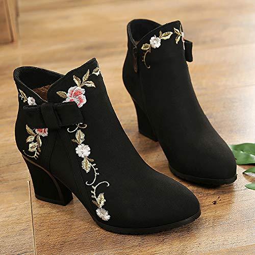 HBDLH Damenschuhe Lady Dicke Sohle Nationalen Stil Retro Einzelne Kurze Stiefel Einzelne Retro Schuhe Die Cheongsam Nahe Bei 100 Sätze 7f2f48
