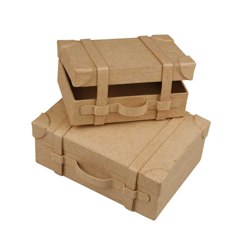 Creativ 4.5 x 11 x 7.5 cm Papier Mache Mini Suitcases 2 Assorted 263990