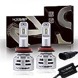 NOVSIGHT H11 LED Headlight 60W(2x30W) 10000LM(2x5000LM) 6500K Cool White - 2 Year Warranty
