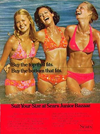 11c3545d1 Amazon.com: Buy the top that fits Suit-Your-Size Sears Junior Bazaar  swimsuit ad 1974: Entertainment Collectibles