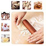 Ebony wooden rolling pin, noodle stick, solid