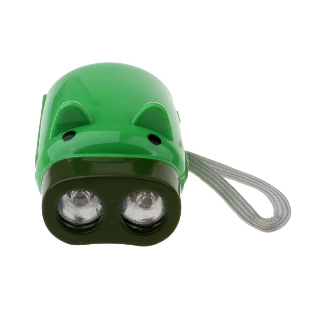 B Baosity Lampe de Poche Del Auto-Aliment/ée /à Manivelle LED Lampe Camping Randonn/ée