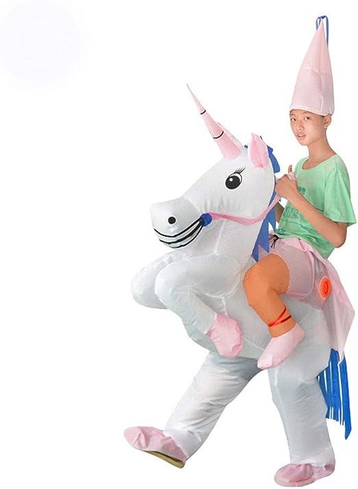 Lilongjiao Disfraz de Unicornio Traje Inflable Halloween Cosplay ...
