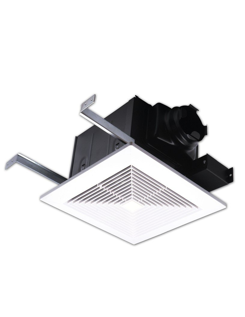 AirZone Fans PA500V Premium Ultra Quiet Exhaust Ventilation Fan, AC Motor, 0.3 Sones, 50 CFM, 4'' Duct