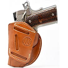 1791 GUNLEATHER 4-WAY 1911 Holster - OWB and IWB CCW Holster - Right Handed Leather Gun Holster - Fits all 3 to 5 inch 1911 models SIG, COLT, Kimber, Ruger, Browning, Taurus and Remmington (SIZE 1)