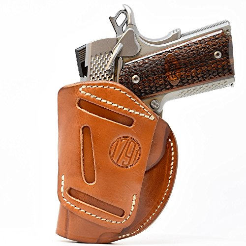 - 1791 GUNLEATHER 4-WAY 1911 Holster - OWB and IWB CCW Holster - Right Handed Leather Gun Holster - Fits all 3 to 5 inch 1911 models SIG, COLT, Kimber, Ruger, Browning, Taurus and Remmington (SIZE 1)