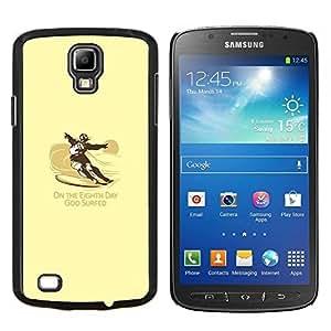TECHCASE---Cubierta de la caja de protección para la piel dura ** Samsung Galaxy S4 Active i9295 ** --Dios Practicado surf divertido Surf