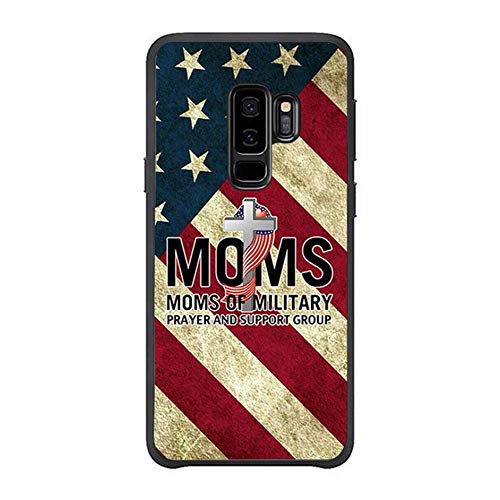 Skinsends Cute Military Mom Prayer US Flag Back Cover Compatible with Galaxy s9 Plus, Hard Plastic Phone Cover Compatible with Samsung Galaxy s9 Plus ()