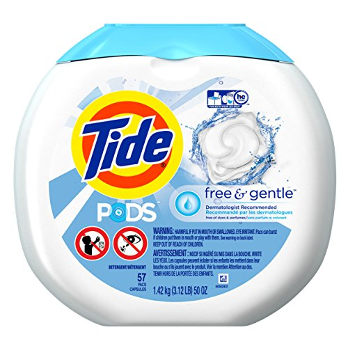 Tide PODS Free & Gentle HE Turbo Laundry Detergent Pacs, Uns