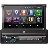 """Dual XDVD136BT Multimedia Retractable & Detachable 7"""" TFT Touchscreen Single DIN Car Stereo Receiver with Built-In Bluetooth, CD/DVD, USB, SD Card & MP3 Player"""