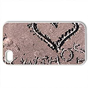 I love Zante... - Case Cover for iPhone 4 and 4s (Beaches Series, Watercolor style, White)
