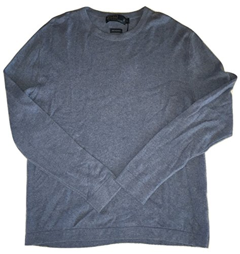 Polo Ralph Lauren Men's Crewneck Long Sleeve 100% Cashmere Sweater Large