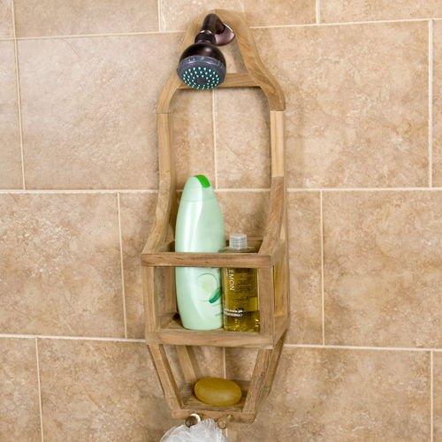 Wood Teak Shower Caddy by Shower