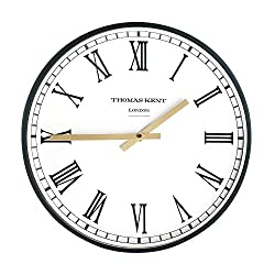 Thomas Kent 16 Classic Wall Clock Glass Face with Aluminum Alloy Frame
