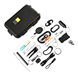 VGEBY 22Pcs Outdoor Survival Kit Multifunction Emergency Gear Tool Kit for Camping Hiking Travelling Adventures